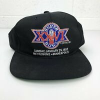 Vintage New Era NFL Super Bowl XXVI 1992 Minneapolis Metrodome Snapback Hat Cap