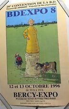 AFFICHE d'Expo ;  La  BD a  BERCY  1996