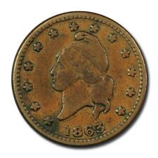 Usa Civil War Token Army & Navy 1863 F Copper Plain Edge R5