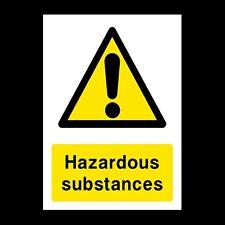 Hazardous Substances Plastic Sign OR Sticker - A6 A5 A4 (CA27)