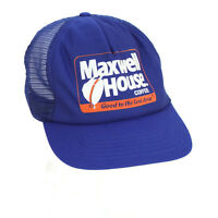 Vintage 1990s Maxwell House Coffee Snapback Mesh Trucker Hat Cap Made In USA