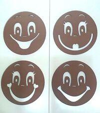 Plantillas para cara de fofuchas de 7cm de diámetro, 4 modelos. Mod.4