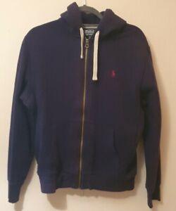 Mens Polo Ralph Lauren Genuine Hoodie M Navy Zip Up