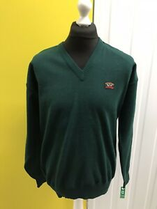 VINTAGE PAUL AND SHARK YACHTING V NECK JUMPER - SIZE XXL MENS - GREEN