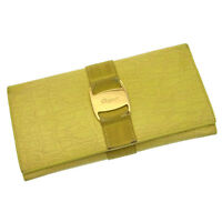 Salvatore Ferragamo Wallet Purse Vera Yellow Gold Woman Authentic Used N099