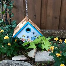 Wooden Birdhouse HB Home Bazaar Flowers Floral Outdoor Garden Colorful Bright