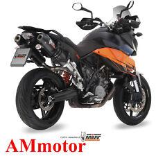 Mivv Ktm 990 Supermoto Smt 2012 12 Pot D' Echappement Moto Oval Carbon Cap
