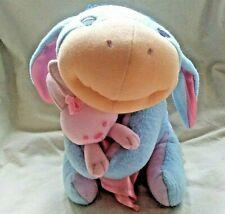 Disney Fisher Price Winnie The Pooh Baby Eeyore Plush Animal with Pink Blanket