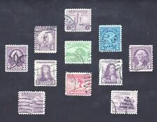 #716-732 VINTAGE COLLECTION OF 1932-33 USED NO GUM 1¢-5¢ w CLEAN BACKS NO FAULTS