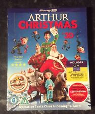 ARTHUR CHRISTMAS - 3D/2D BLURAY BRAND NEW & FACTORY SEALED  MINT FREE POST