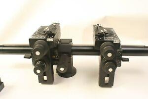 sinar p2  front , rear . rail, clamp.