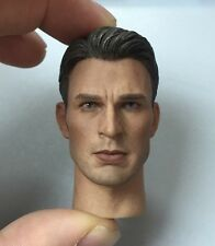Custom 1/6 Chris Evans 3.0 figure Head Sculpt For Captain Hot America Toys body
