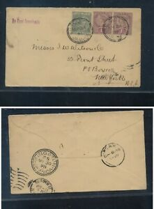 Jamaica  cover to US   mail marking  by  first  opportunity   1898
