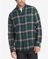 G.h. Bass & Co. Fireside Plaid Flannel Shirt Green Mens Medium New