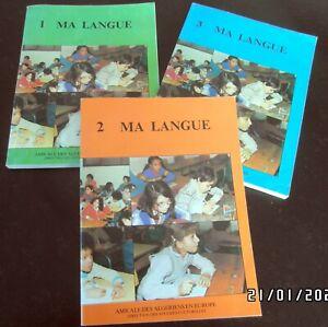 Rare 3 livres d'apprentissage de l'arabe  MA LANGUE  niv. 1 à 3 par Yacoub Larbi