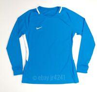 New Nike LS Park Women's M Long Sleeve Blue White Training Shirt Jersey 894515
