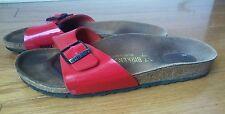 birkenstock 37 women 6 6.5 narrow red single strap free shipping walking cork