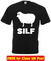 SILF funny welsh t shirt humour sarcastic novelty xmas birthday gift wales sheep