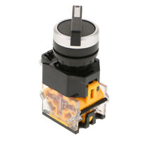 ON/OFF Changeover Switch Plastic 2 Position Latching Rotary Switch NO+NC