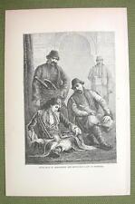 TURKEY Costume of Muslim Mussulman Men & Ladies - 1880s Antique Print