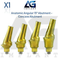 Anatomic Angular Concave Abutment 15° Titanium Dental Implant Internal Hex