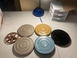 Lot of Vintage 8mm/Super 8mm Metal/Plastic  Film Reels + Cans