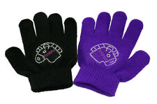 Sparkle Horsehead childs horse bike riding play Gloves Purple or Black FREE POST