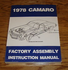 1978 Chevrolet Camaro Factory Assembly Instruction Manual 78 Chevy