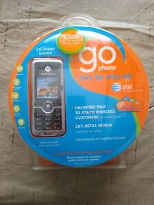 Motorola C168i Cell Phone Go Phone AT&T Pay as you go -Silver-BRAND NEW IN BOX