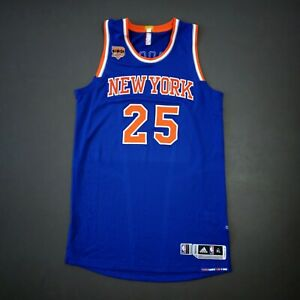 "100% Authentic Derrick Rose 2015 Knicks Game Issued Jersey Size XL+2"" - used"