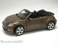 VW New Beetle Convertible 2013 TOFFEE BROWN METALLIC KYOSHO MODELS 1/18