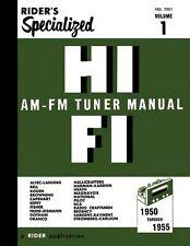 Riders Specialized Hi-Fi AM-FM Tuner Manual Volume 1 * CDROM * PDF