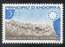 Andorra 1984 PIRENEI montagne/CONSIGLIO D'EUROPA/Mappe 1 V (n39241)