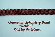 "Red Upholstery Braid ""Grampian Rowan"" 18mm (sold by the Metre) Upholstery/crafts"