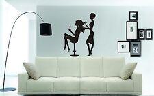 Wall Art Quality Vinyl Stickers Decals: HAIRDRESSER - Home, Salon, Beauty