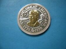 JOHN F KENNEDY PRESIDENT 999 SILVER .32 GRAMS GOLD BI-METAL LETCHER COIN ROUND