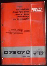 Deutz Fahr Schlepper 7207 C Ersatzteilliste
