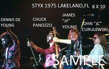 Styx 1975 8 X 10 Color Photo Lakeland,FL Pre-Tommy Shaw Days