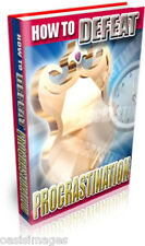 HOW TO DEFEAT PROCRASTINATION Audio book on CD rom, read, listen print