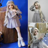 1/3 Ball Jointed Doll 60cm BJD Puppe + Veränderbare Augen + Perücken + Kleidung