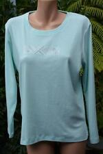 Stylish NONI B. Quality Spearmint Top Silver Print Trim Size M-14 NEW rrp$$69.95