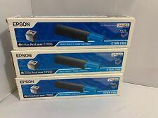 3 Epson High Capacity Toner Cartridges  For AcuLaser C1100, Cyan 0189