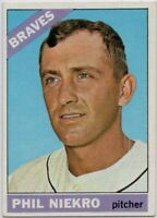 1966 Topps #28 Phil Niekro EX-EX+ Wrinkle Atlanta Braves FREE SHIPPING