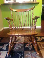 Maple Nichols & Stone Windsor Rocker / Rocking Chair