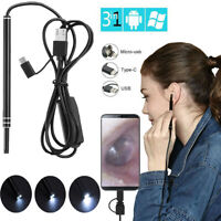 USB Ear Cleaning Endoscope Visual Earpick HD Visual Camera Spoon Otoscope 5.5mm
