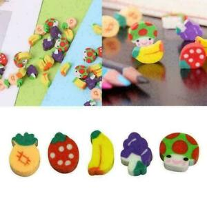 Mini Fruit Shaped Rubber Pencil Eraser Novelty Stationery D1B2 Gift S4I2