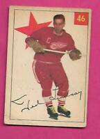 1954-55 PARKHURST # 46 RED WINGS TED LINDSAY CARD  (INV# C5022)