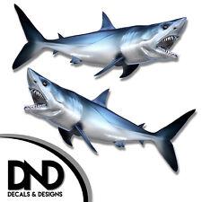 """Mako Shark - Fish Decal Fishing Hunting Bumper Sticker """"5in SET"""" F-0400 D&"""