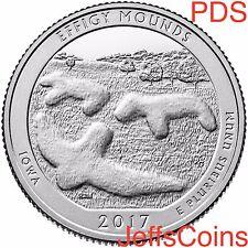 2017 P&D&S Effigy Mounds National Monument Park Quarter U.S.Mint Low Cost IA PDS