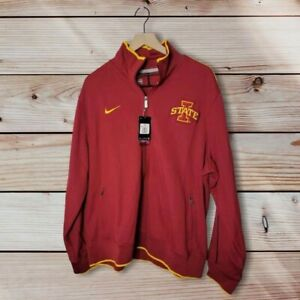 Nike Iowa State Full zip Track Jacket XXL Red/Yellow Stripe Embroidred Logo